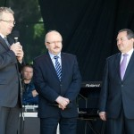 Prezes Andrzej Gut, Prezydent Katowic Piotr Uszok i Dyrektor Stanisław Krusz