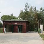 Budynek przepompowni o kubaturze 800 m3. Jego głębokość wynosi 7 m.