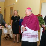 Powitanie Ks Bpa Edwarda przez Prezesa Wodociągów Tarnobrzeskich