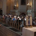Pielgrzymi przed mszą