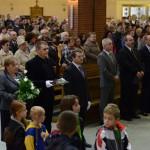Powitanie przed mszą.