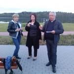 Ks. Ryszard Kamiński - Duszpasterz ze Szczecina wraz z pielgrzymami z ZWiK- u w Szczecinie.