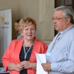 Urszula Malińska - przewodnicząca Komitetu Organizacyjnego i ks. Ryszard Kamiński
