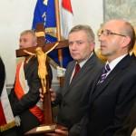 Prezes Stanisław Kowalewski z Krzyżem Pielgrzymkowym.