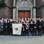 Uczestnicy spotkania przed Kościołem Św. Krzyża w Siemianowicach Śl.