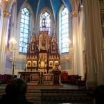 Ks. Grzegorz Krząkała podczas homilii w kościele pw. św. Wojciecha w Radzionkowie