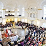 Msza święta w kościele pw. Wszystkich Świętych w Poznaniu.
