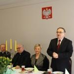 Prezes Janusz Dulik wita gości.