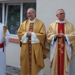Krajowy Duszpasterz ks. Grzegorz Krząkała i Diecezjalny Duszpasterz w Tarnobrzegu ks. Adam Marek