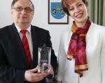 Prezes Janusz Dulik i Pani Prezydent Sława Umińska Duraj